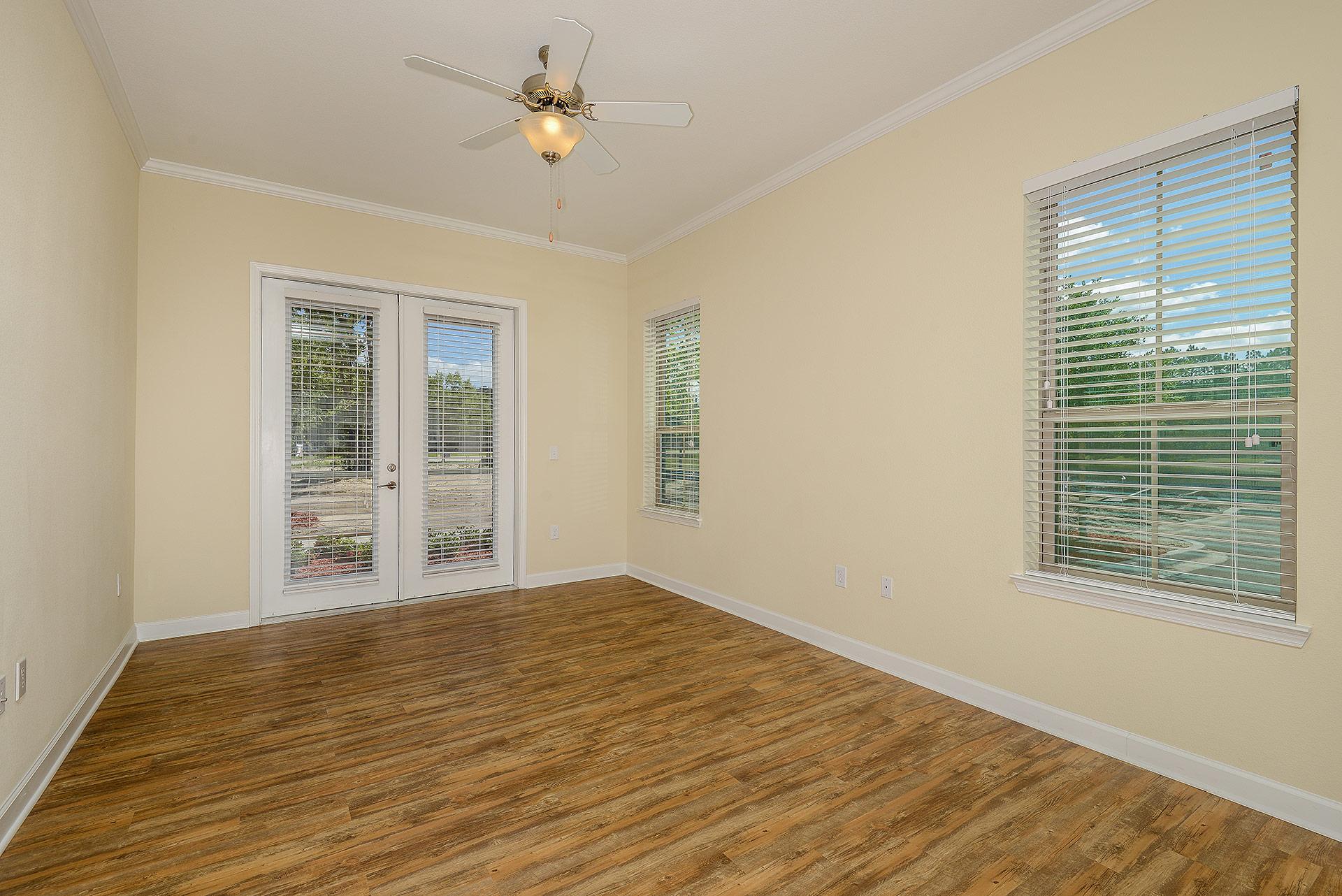 Wooden floor living room in unit