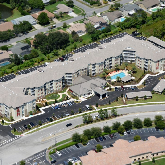Monterey Pointe Market Rate Senior Living Apartments aerial view