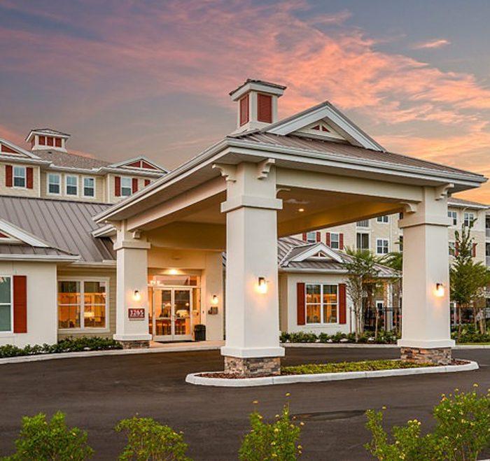Monterey Pointe Market Rate Senior Living Apartments entrance area