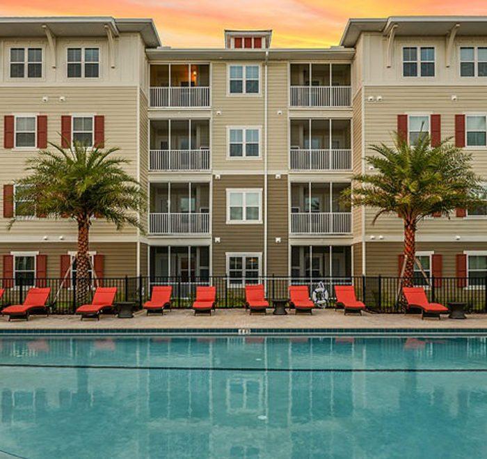 Monterey Pointe Market Rate Senior Living Apartments pool area