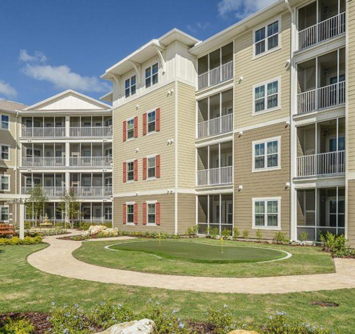Monterey Pointe Market Rate Senior Living Apartments walking path