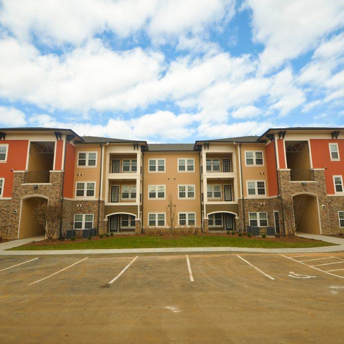 Integra Creek multi family apartment orange building