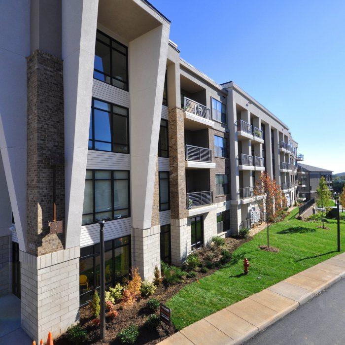 Multi story apartment complex