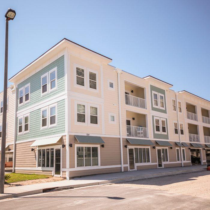 Jacksonville Beach multi story beach side apartment building