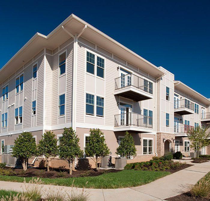 White multi story apartment building