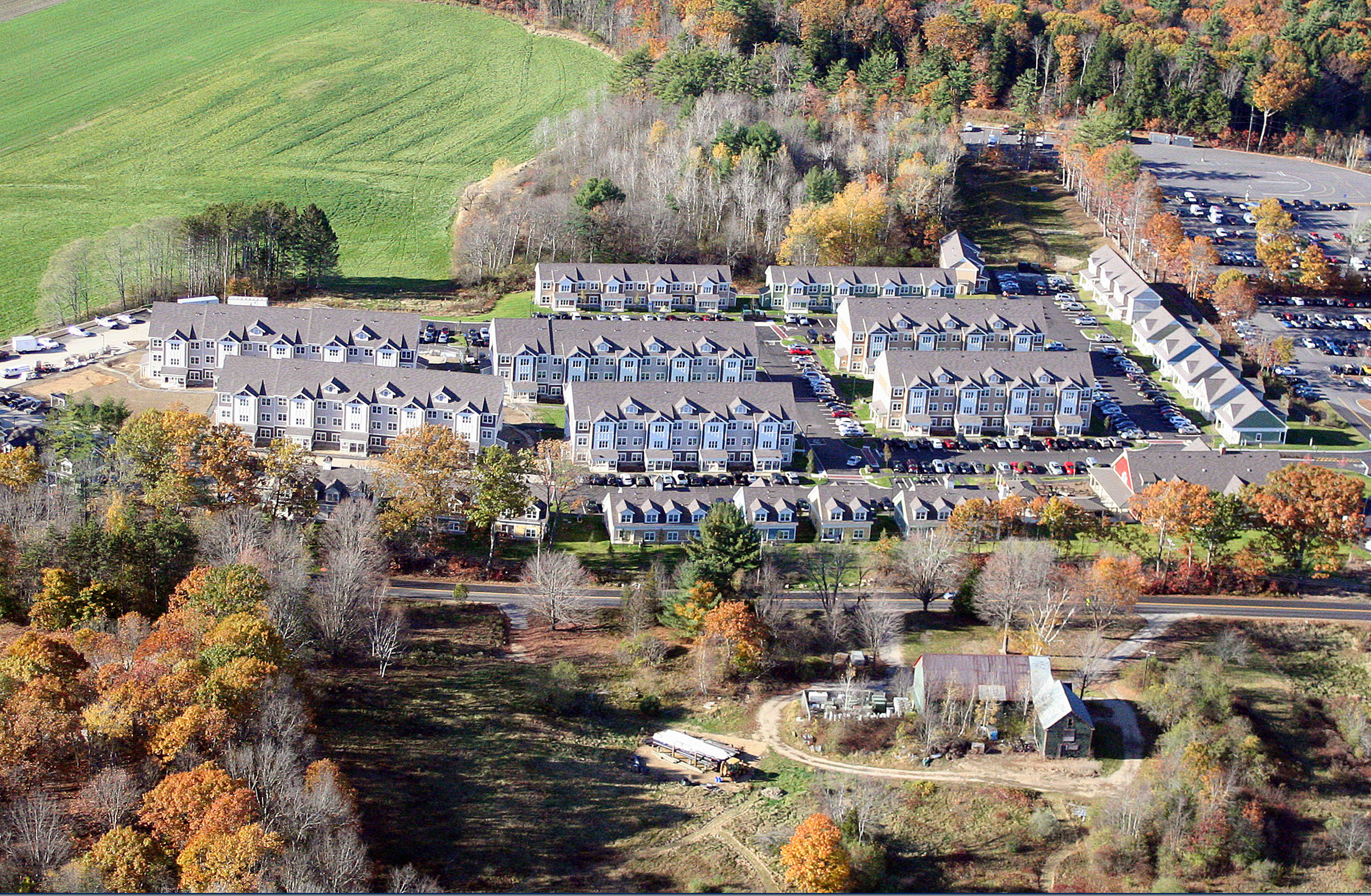 Multi story student housing aerial shot