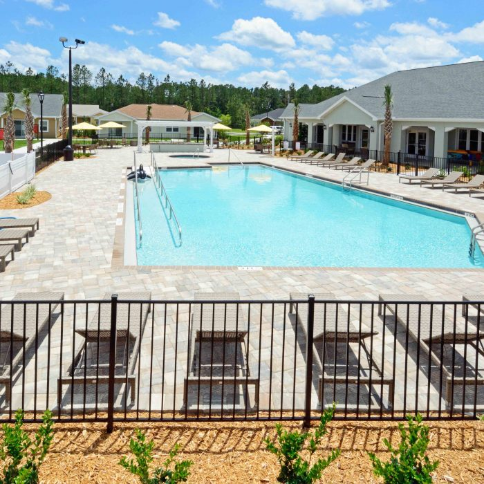Assisted living pool area