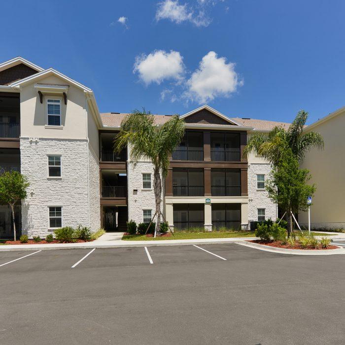Multi level apartment building in Florida