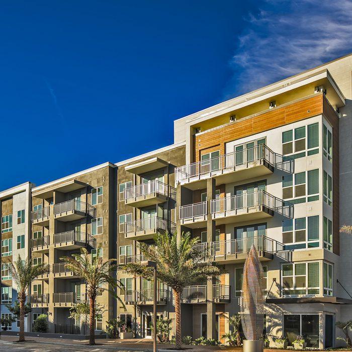 Luxury multi level apartment building