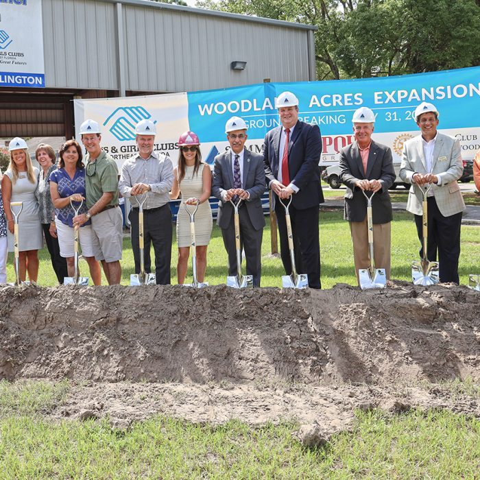 Groundbreaking event with Summit contractors at Boys & Girls Club Project by Summit Contracting Group