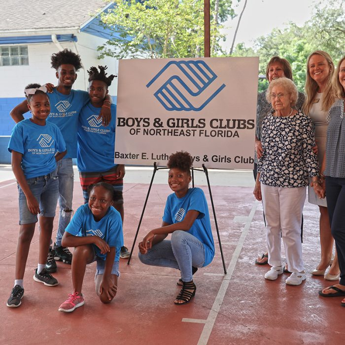 Kids and employees at Boys & Girls Club Project by Summit Contracting Group