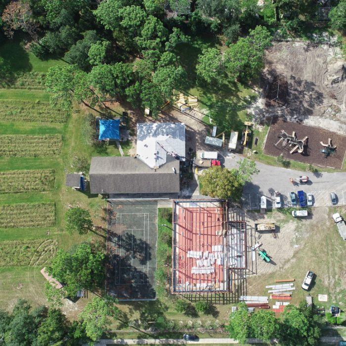 Aerial shot of buildings for Boys & Girls Club Project by Summit Contracting Group