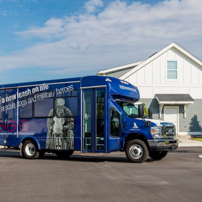 Company Bus of K9s For Warriors Project by Summit Contracting Group