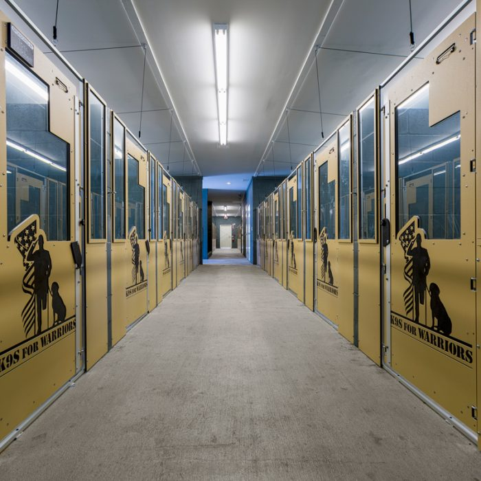 Kennel area for K9s For Warriors Project by Summit Contracting Group