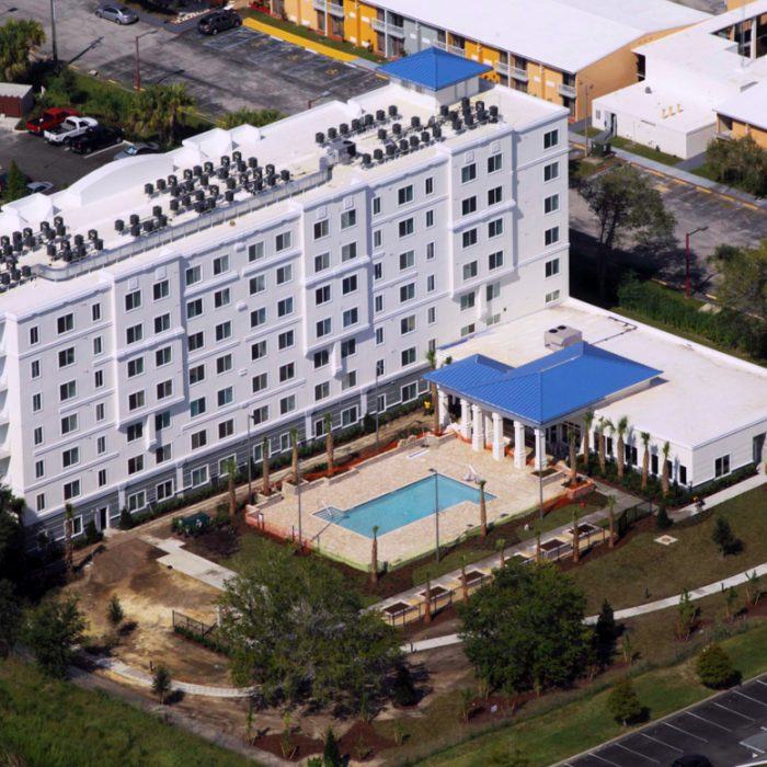 Madison Crossing Market Rate Senior Living Apartments aerial view