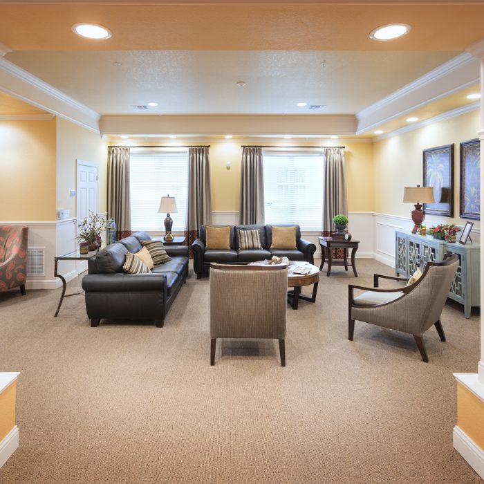 Madison Crossing Market Rate Senior Living Apartments by Summit Contracting Group sitting area