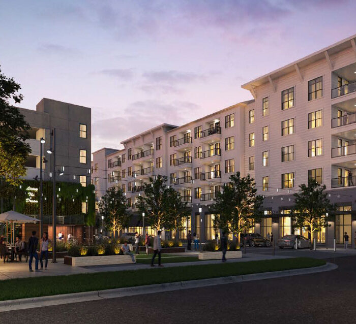 rendering of 5 story apartment building