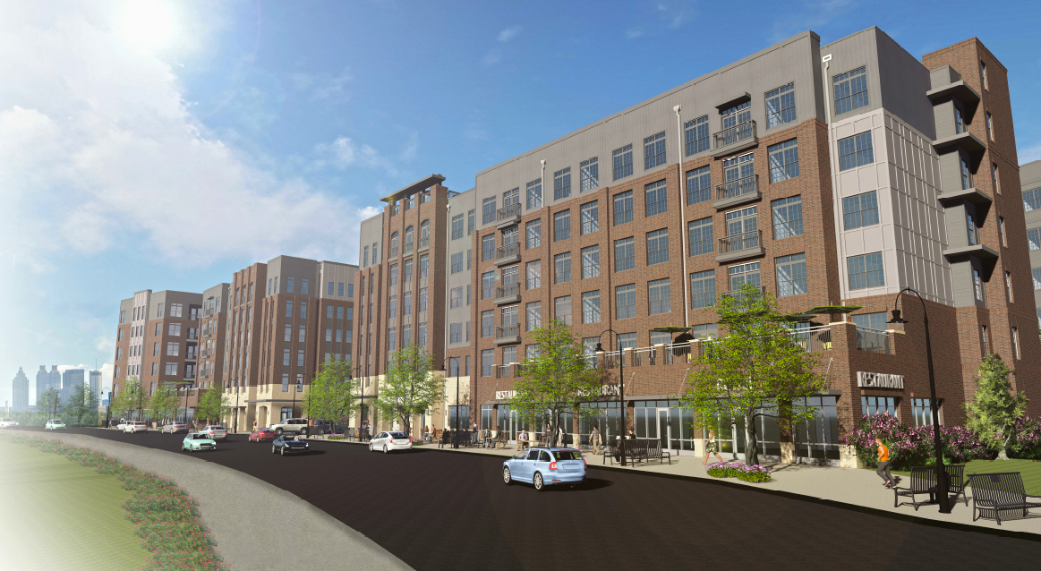 Theory West Midtown Mixed-Use Rendering by Summit