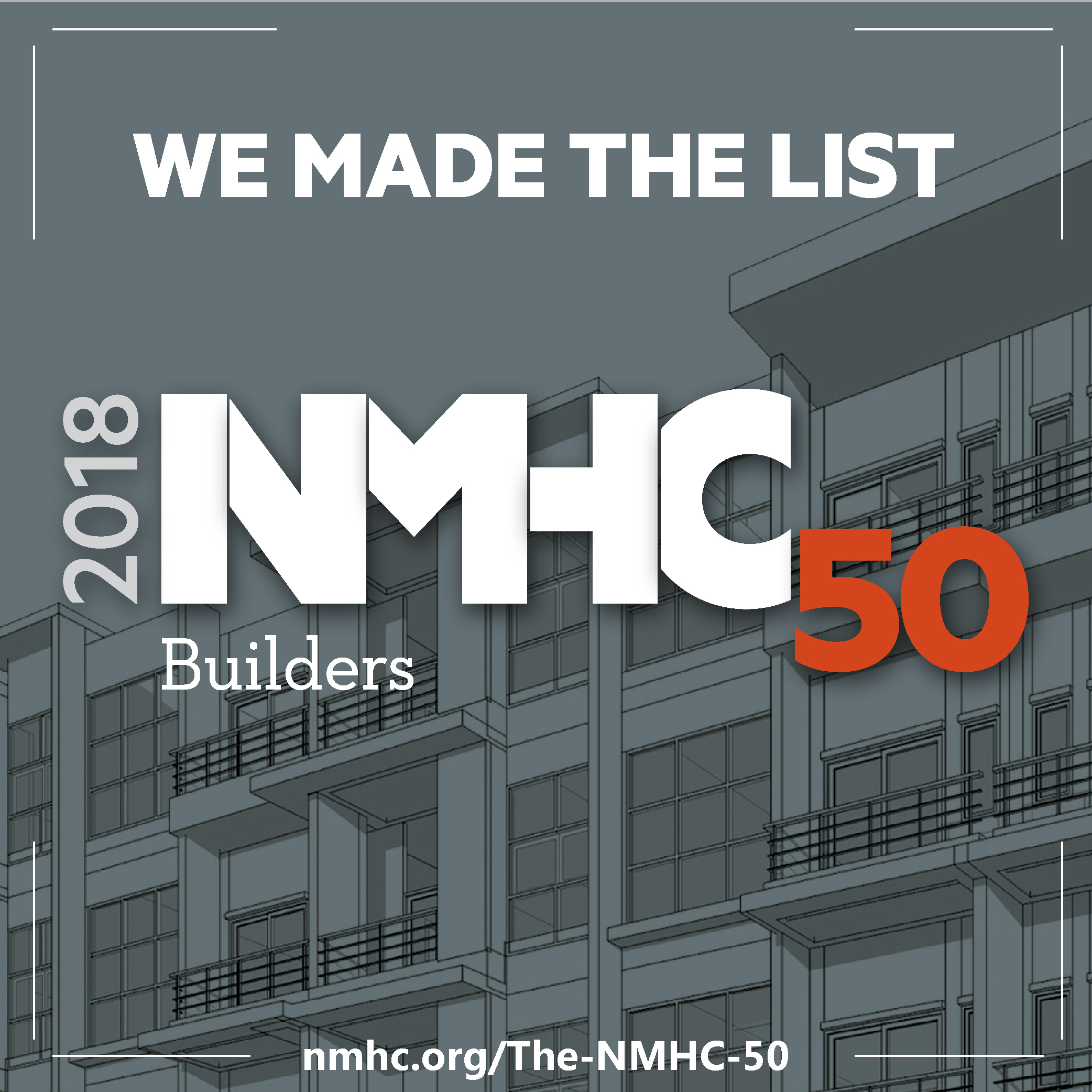 Logo of 2018 NMHC Top 50 Builders