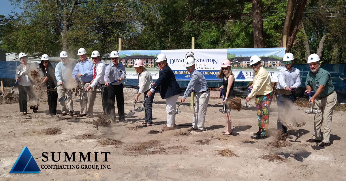 Photo of groundbreaking ceremony at Duval Station Landing HUD Apartments