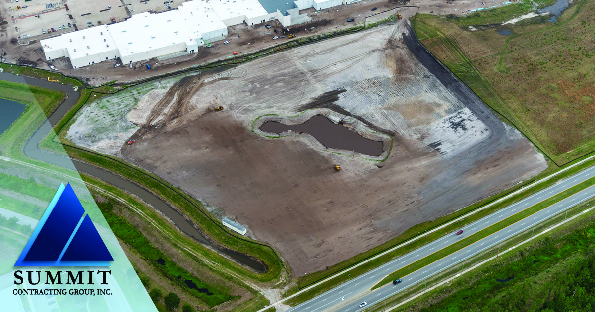 Aerial photo of construction site for Tomoka Pointe Market Rate Apartments
