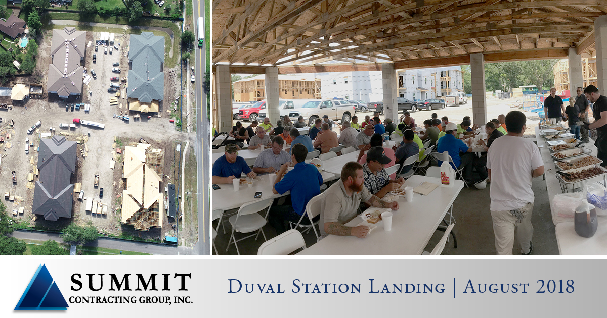 Collage of photos from Duval Station Apartments