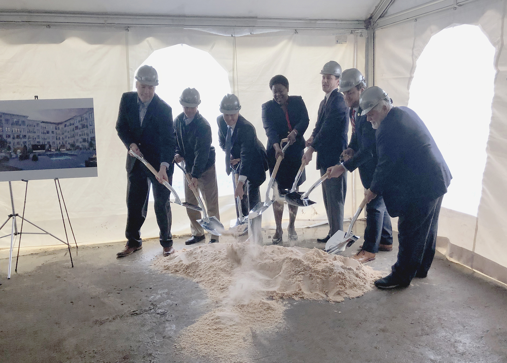 Upper Westside Groundbreaking Ceremony for Market Rate Development by Summit Contracting Group