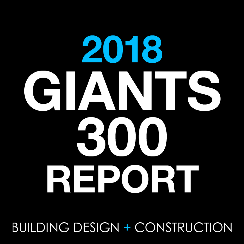 Logo for 2018 Giants 300 Report by Building Design & Construction