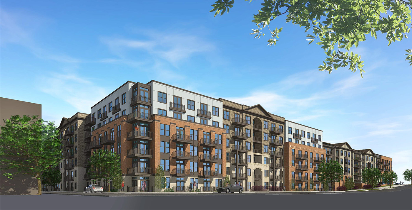 West Village Phase III Construction Multifamily Rendering Summit Contracting Group