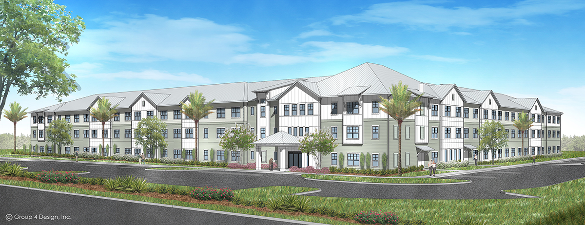 Lucas Creek Senior Living Apartments Rendering by Summit Contracting Group