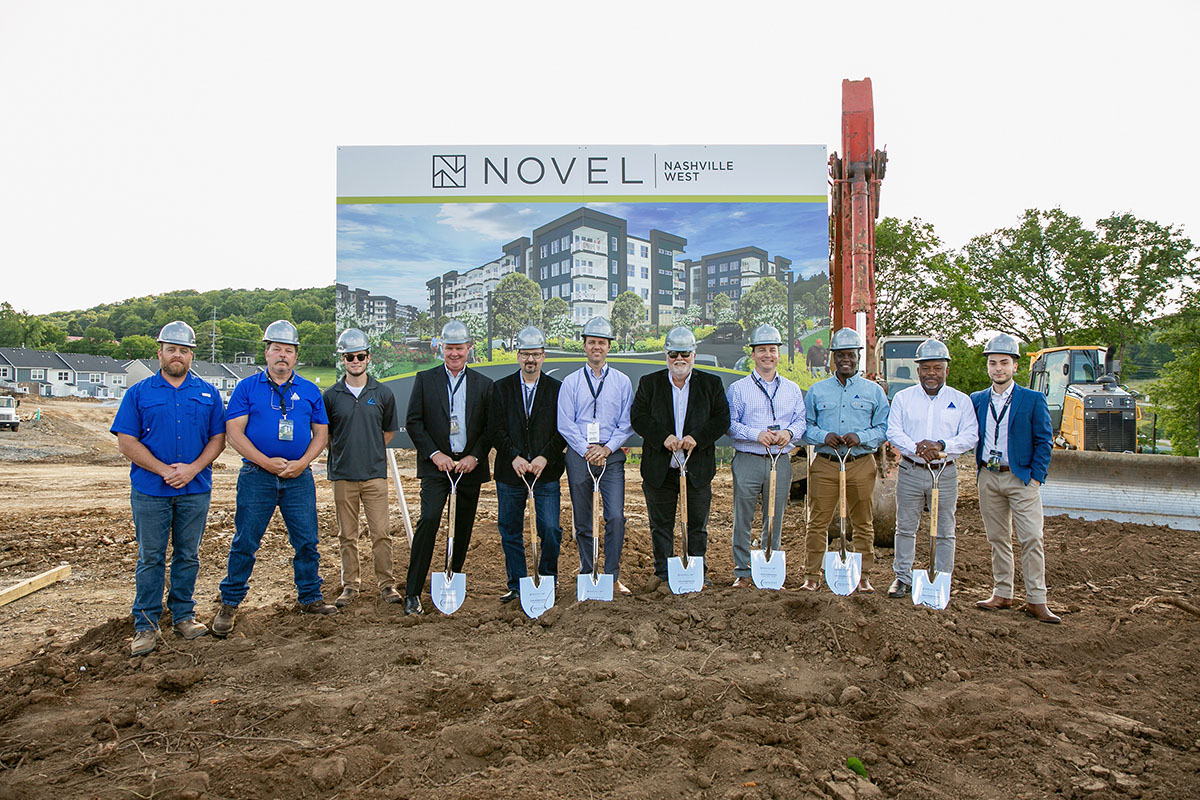 NOVEL Nashville Multifamily Groundbreaking Construction site event by Summit Contracting Group