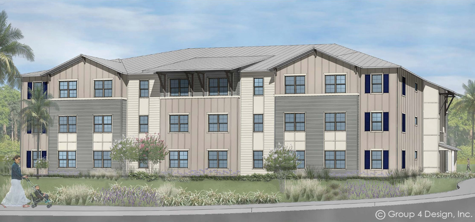 Rendering of Macie Creek Multifamily Affordable Workforce Housing by Summit Contracting Group