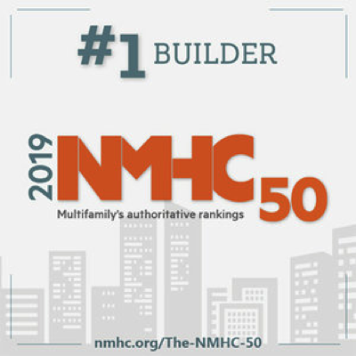 Graphic for NMHC 50 2019 #1 Builder Award for Summit Contracting Group