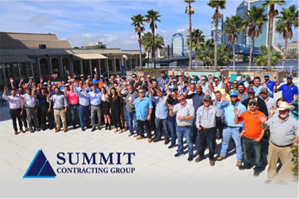 Group photo of 2020 Summit Contracting Group Superintendents Meeting