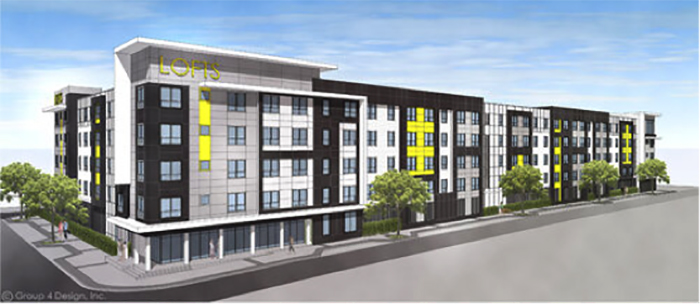 Rendering of 4th Lofts Multifamily Apartments by Summit Contracting Group