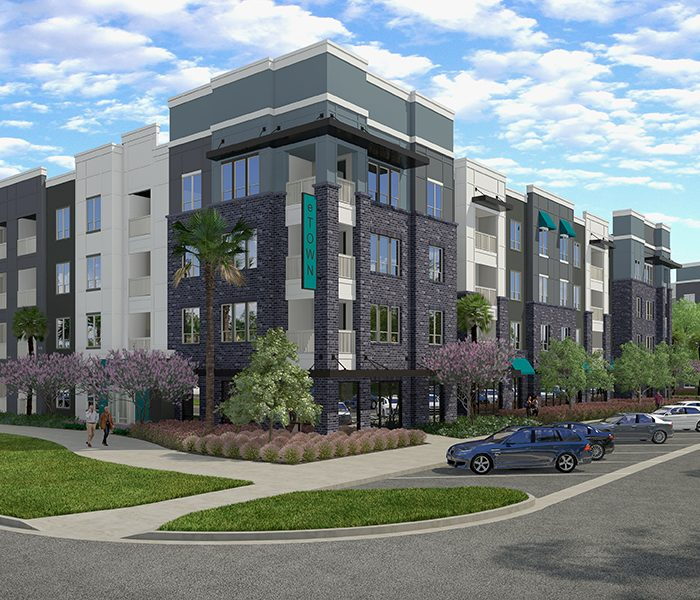 The Menlo Multifamily Apartments Rendering in Jacksonville, Florida
