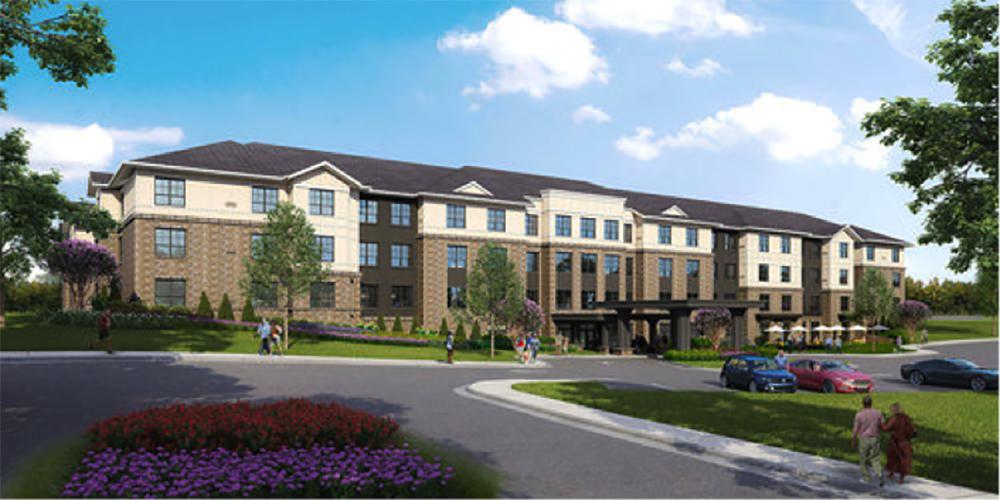 Renaissance at Garden Walk rendering for Summit Contracting Group Senior Living Development