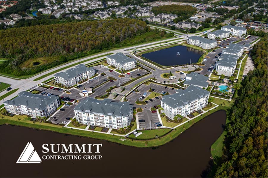 Morgan Orlando Multifamily Apartments Aerial View from Summit