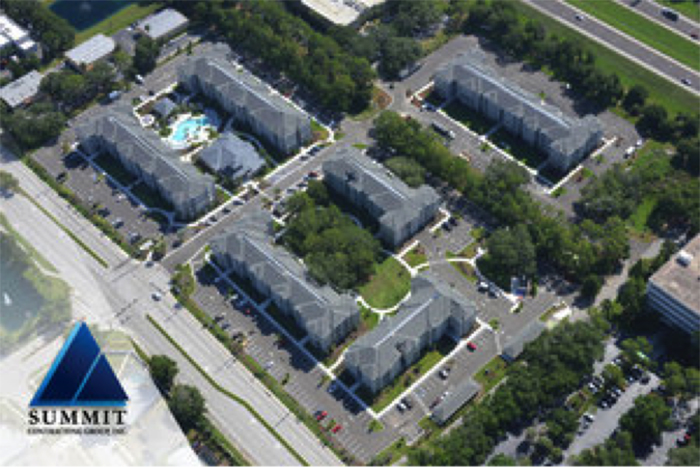 Aerial shot of Volaris Live Oak Multifamily Development by Summit Contracting Group