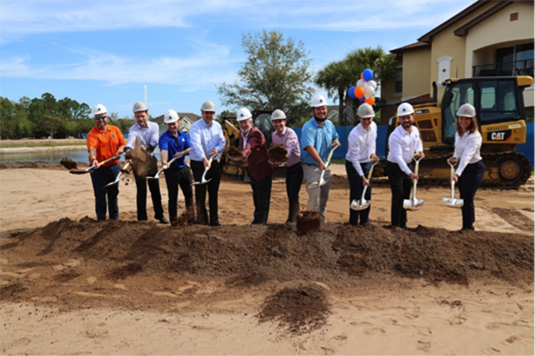 Groundbreaking event for Tuscan Reserve Market Rate Multifamily Development by Summit