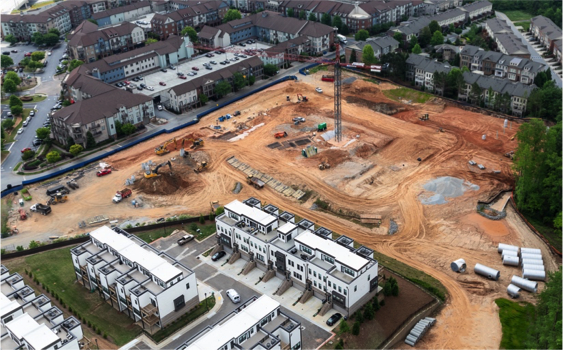 West Village Phase III Construction Multifamily Construction Site Summit Contracting Group