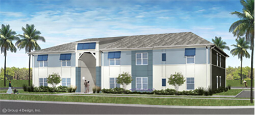 Rendering of The Waves Multifamily HUD Apartments by Summit Contracting Group