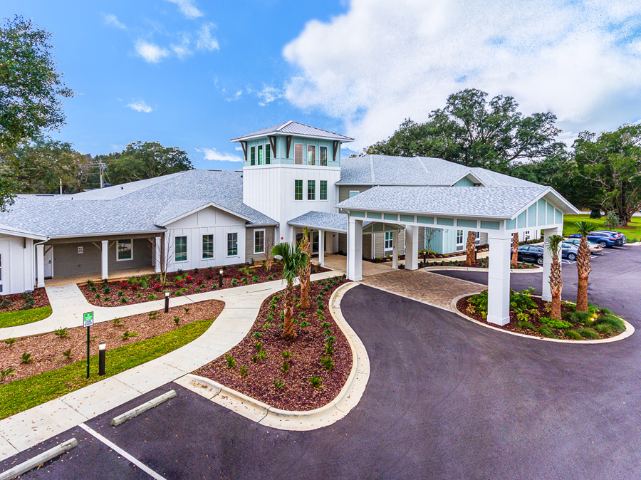 Entrance of assisted living property