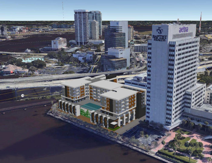 architects rendering of Southbank Jacksonville apartments