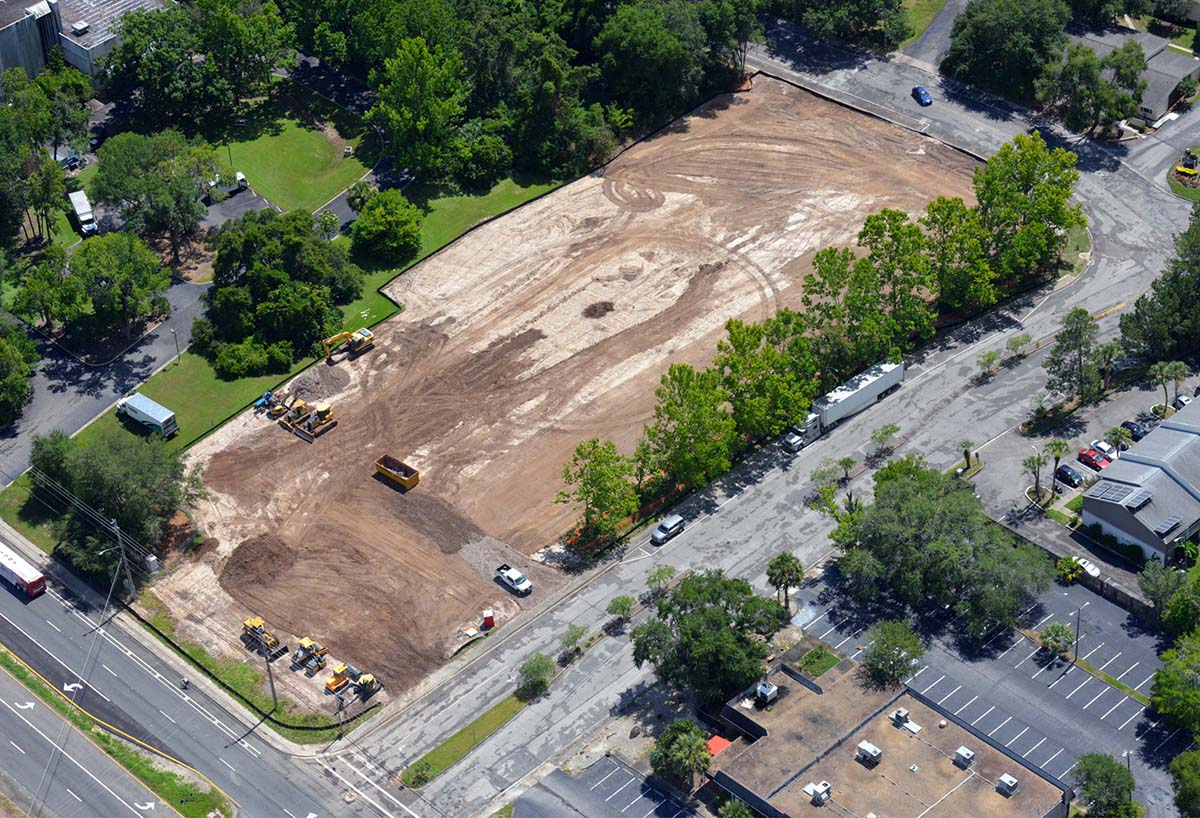 aerial view of Rise Gainesville construction site