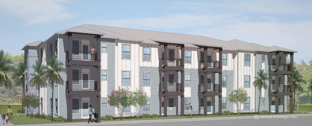architect rendering of Sydney Trace apartments in Jacksonville