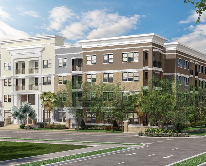 architects rendering of The Foundry NoHo Apartment Building in Tampa
