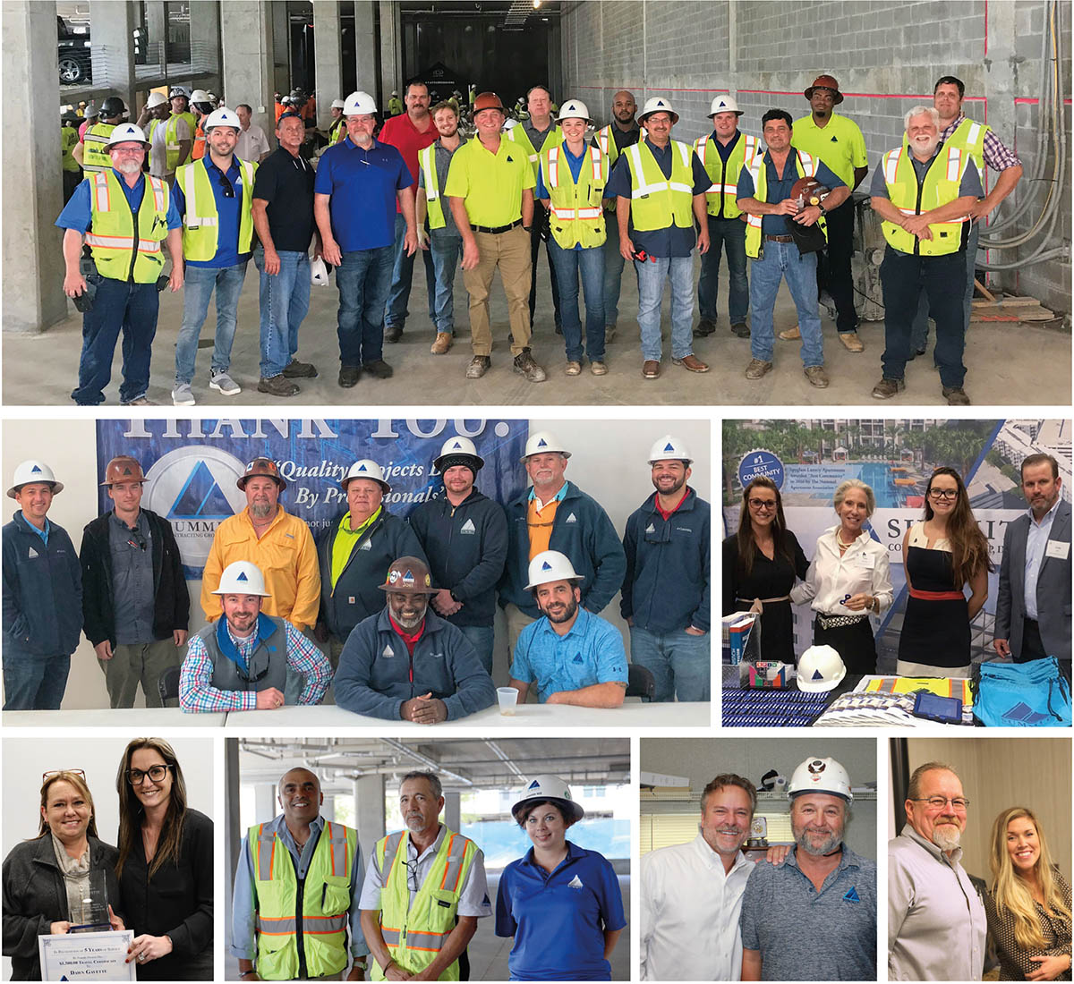 collage of employees at Summit Contracting Group