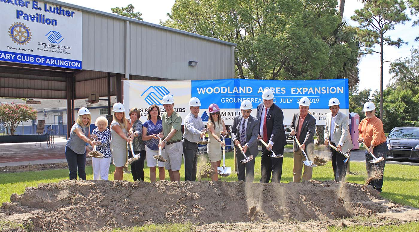 groundbreaking of boys and girls clubs