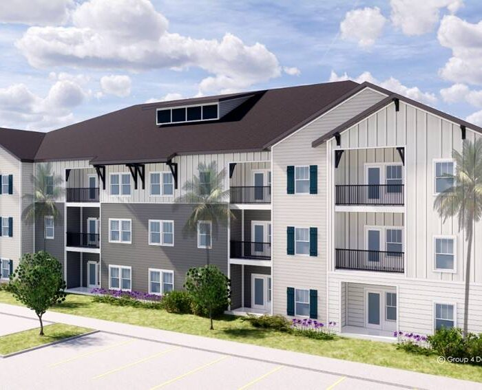 Rendering of East Colonial 3 Story Apartment Building